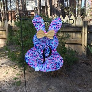 Other - Lily print Easter bunny garden or mailbox flags